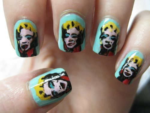 andy warhol - marilyn nails