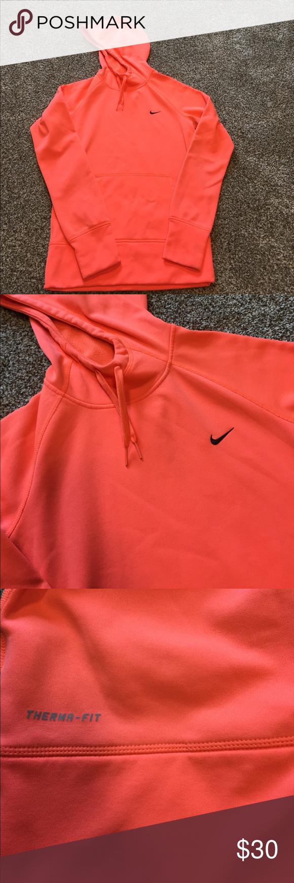 newest best choice better Nike Therma-fit neon orange hoodie Bright neon hoodie ...