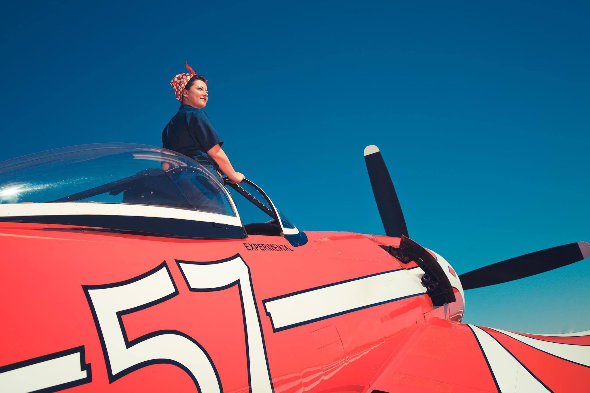 We Can Do It! - Vintage air show shoot. Casa Grande, AZ