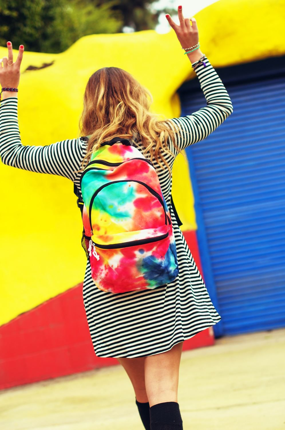 Tie Dye Backpack Back to School Style Inspo