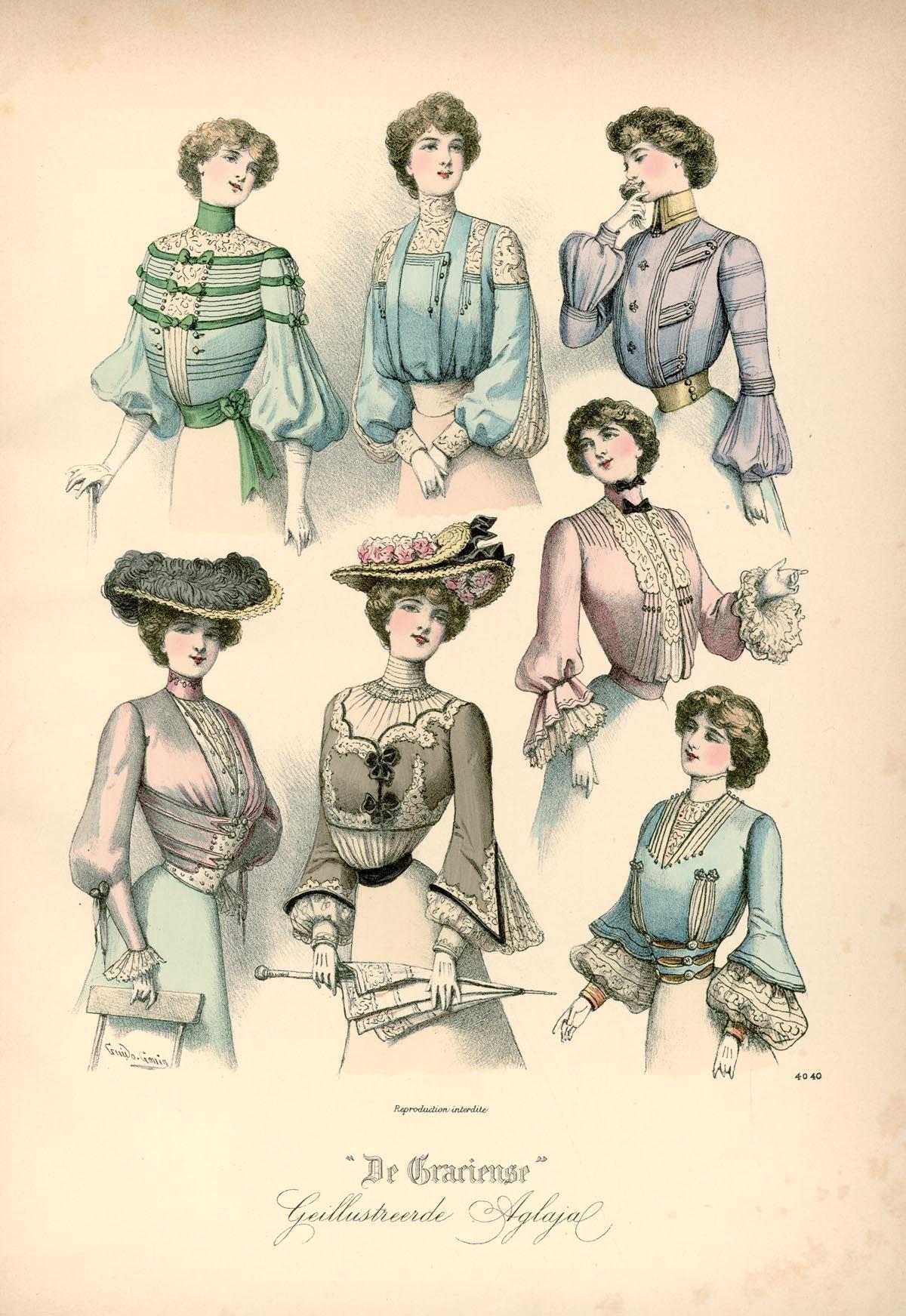 [De Gracieuse] Blouses en tailles voor den zomer (May 1902)