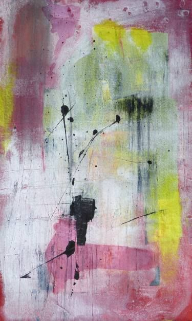 """Saatchi Art Artist Mark Fearn; Painting, """"If I could read your mind  No.1"""" #art  If I could read your mind No.1  Acrylic on unstretched canvas painted to the edges which are ragged.  16.5 x 27.5 inches www.fearnfineart.moonfruit.com"""
