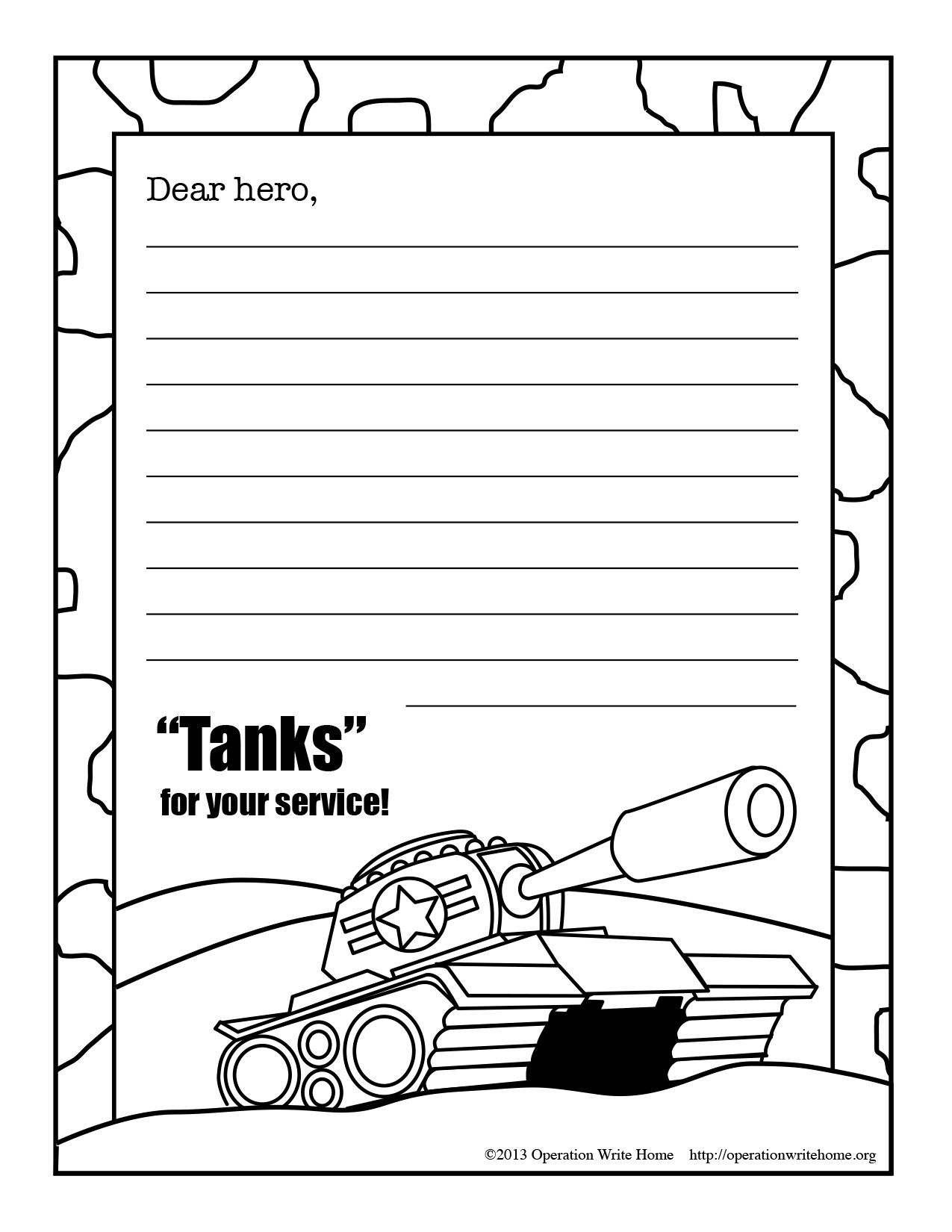 Coloring Pages Operation Write Home Military Kids Coloring Pages Military Child Month
