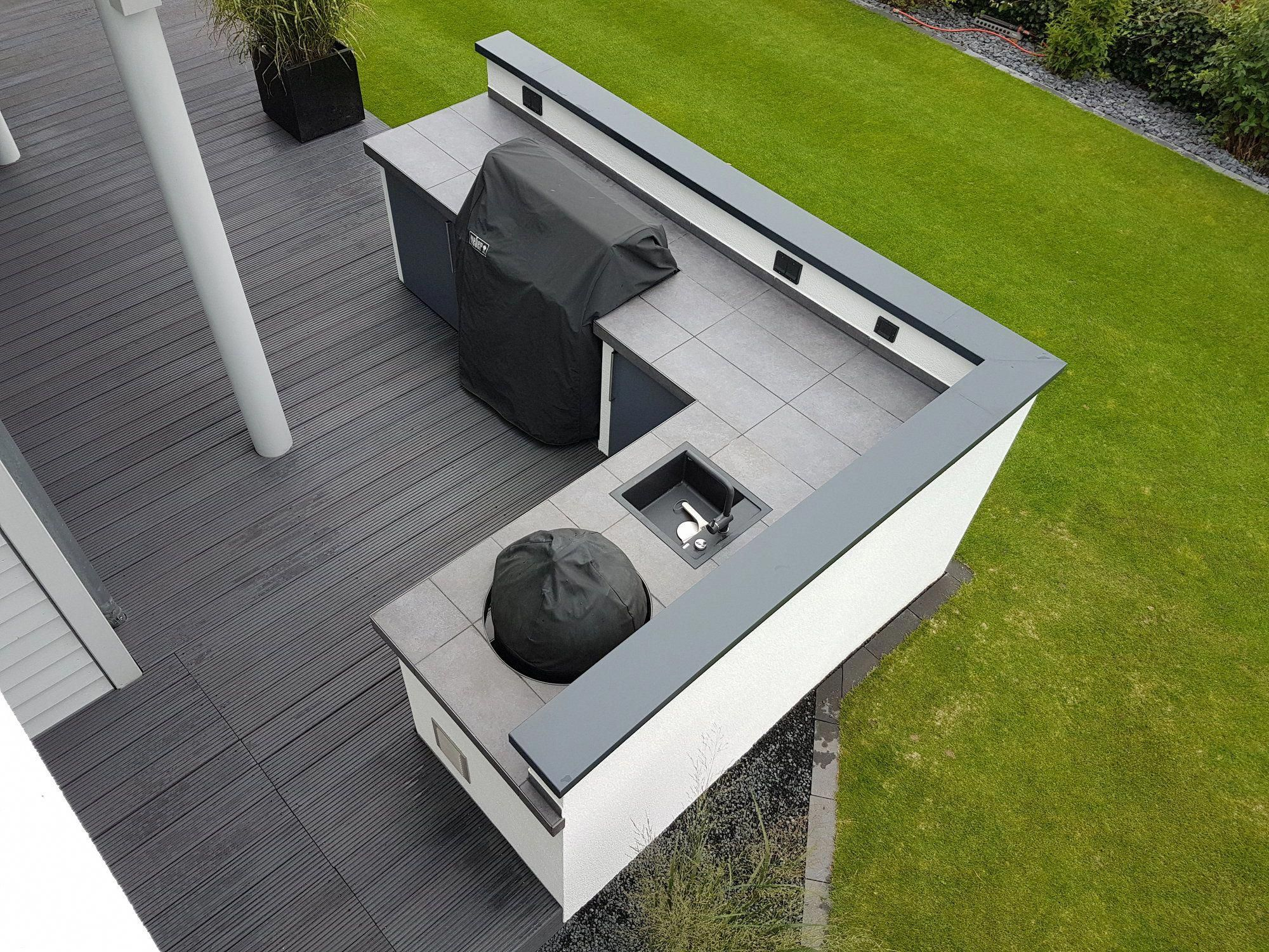 Stainless Steel This Industrial Strength Surface Area Provides A Smooth Finish In M Outdoor Kitchen Design Outdoor Kitchen Design Layout Outdoor Kitchen Patio