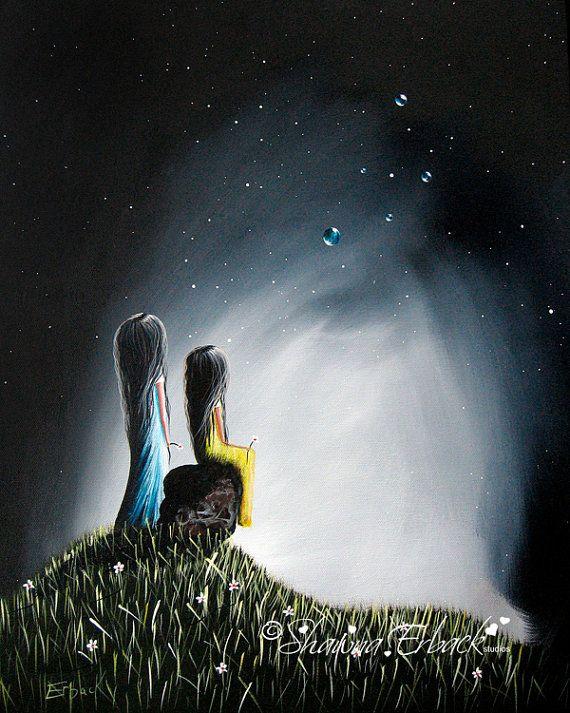 My Precious FINE ART PRINT by Shawna Erback girls by shawnaerback, $10.00
