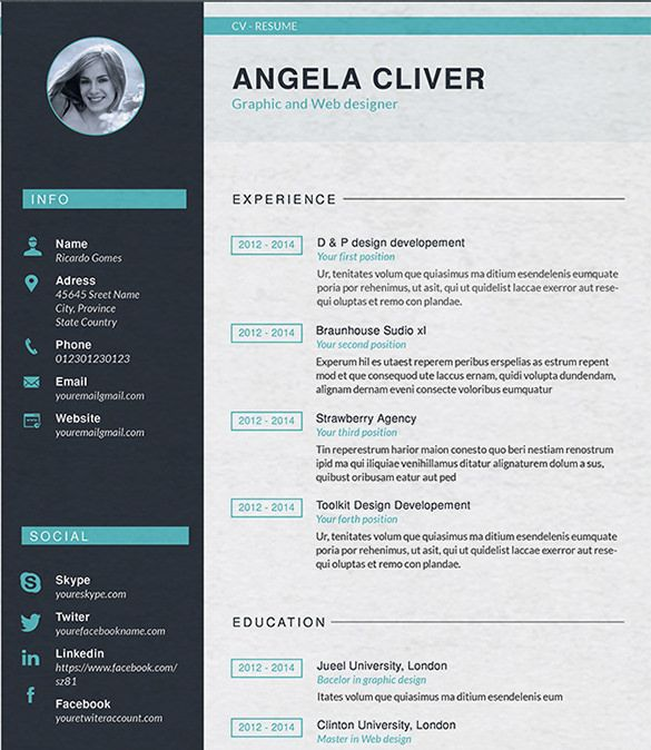 Doc Pdf Free Premium Templates In 2020 Graphic Design Resume Graphic Resume Resume Design