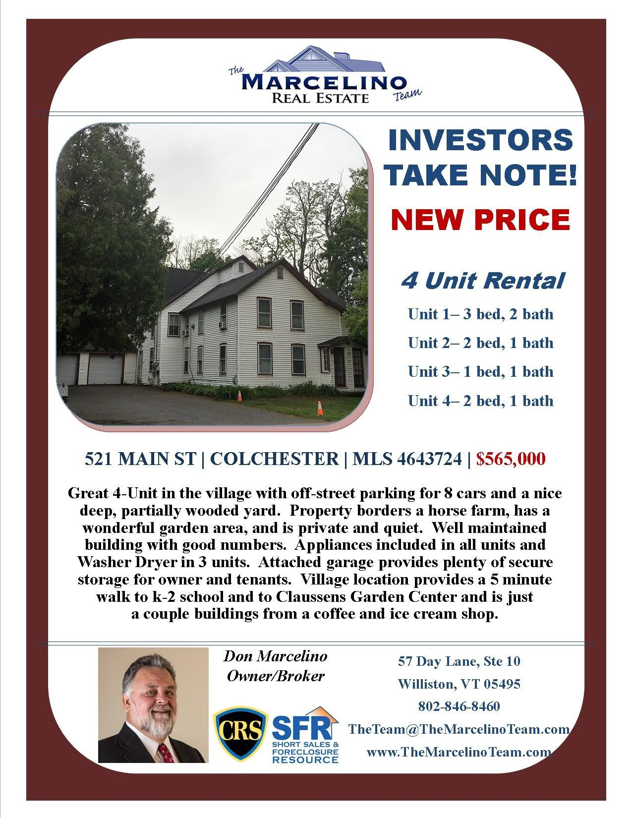 521 Main Colchester VT Multi-family Real Estate Listing MLS #4643724  sc 1 st  Pinterest & 521 Main Street Colchester VT 05446 | Secure storage and Horse farms