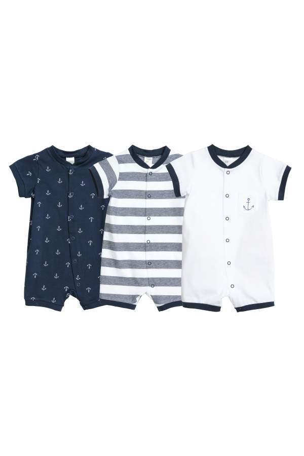 22f732d98158 H M 3-pack Jumpsuits - Dark blue anchors - Kids