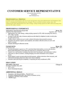Professional Profile Paragraph Form Resume Resume Profile Resume Profile Examples Professional Profile Resume