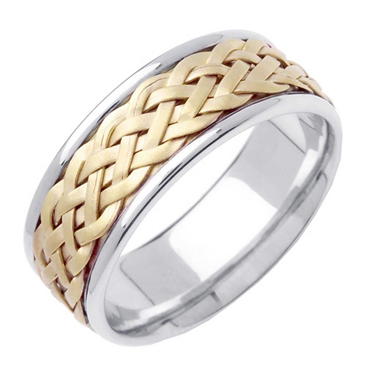 Irish Men S Ring Mens Gold Wedding Band Braided Wedding Band Indian Wedding Rings
