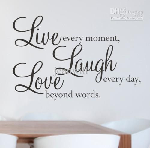 [ Live Laugh Love Wall Stickers Quotes Parkins Interiors Art Sticker Quote  Decor Decal Words ]   Best Free Home Design Idea U0026 Inspiration