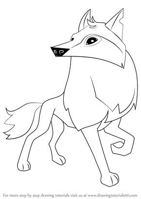 Learn How To Draw Arctic Wolf From Animal Jam Animal Jam Step By Animal Jam Drawings Cute Wolf Drawings Animal Jam