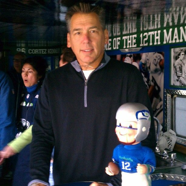 Jim Zorn Steve Largent Stop By Hawk One Un Real 83hawks 12s