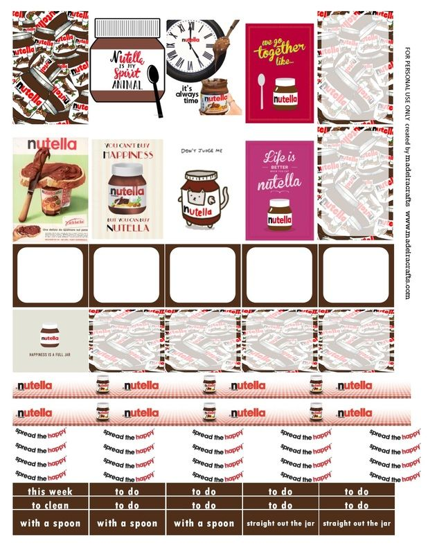 photograph relating to Nutella Printable Coupon referred to as Planner Journaling Printables ❤ Absolutely free Nutella Cost-free