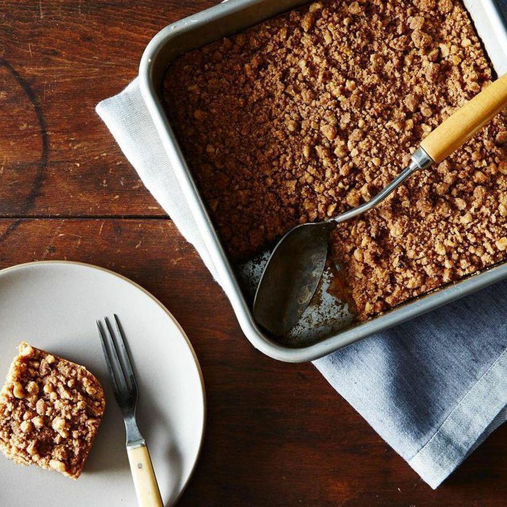Vegan Peach Crumble Coffee Cake Recipe on Food52 recipe on Food52