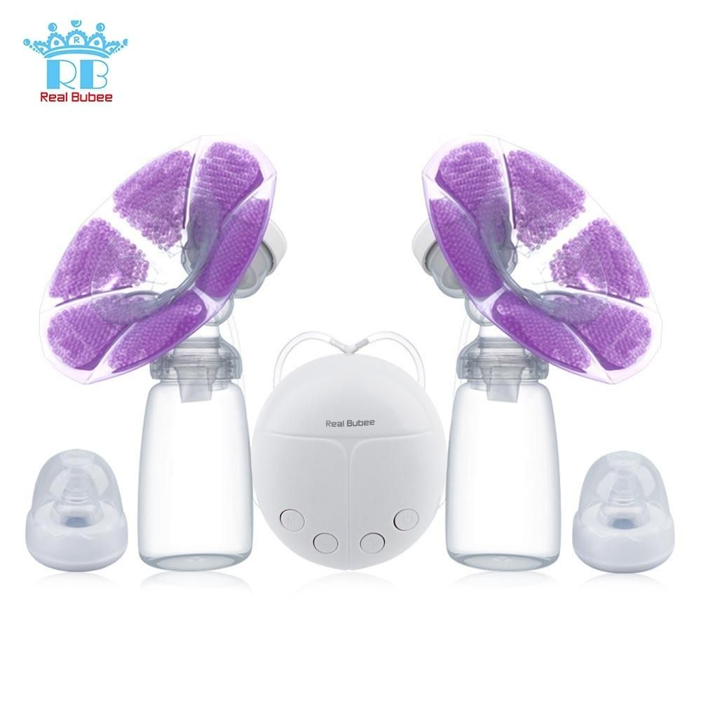 Real Bubee Single Double Electric Breast Pump Baby Breast Feeding Infant