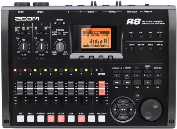 zoom r8 8 track digital recorder daw controller audio interface maurice in 2019 audio. Black Bedroom Furniture Sets. Home Design Ideas