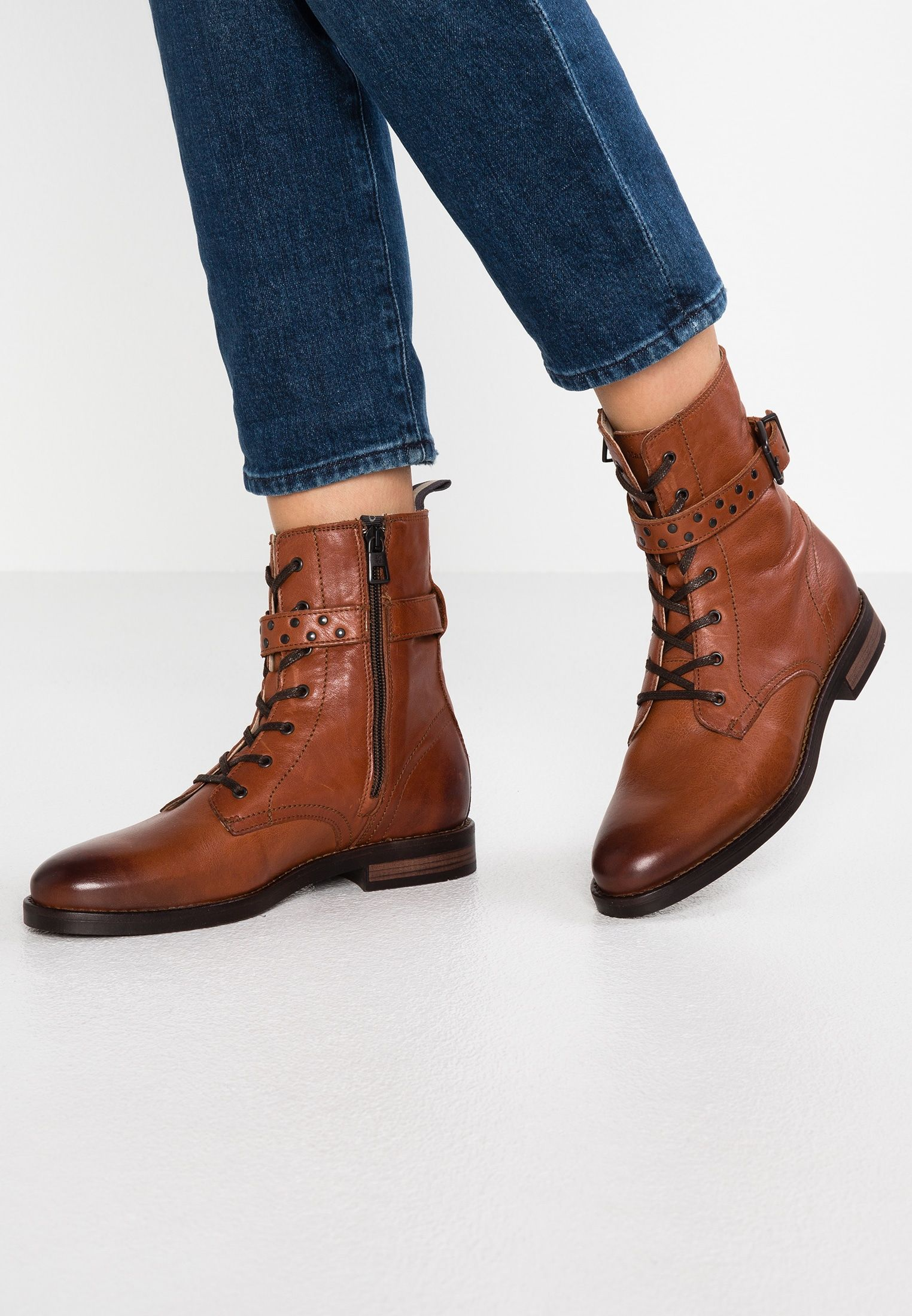 classic styles thoughts on order online Lace-up ankle boots - cognac @ Zalando.de 🛒 | Lace up ankle boots ...