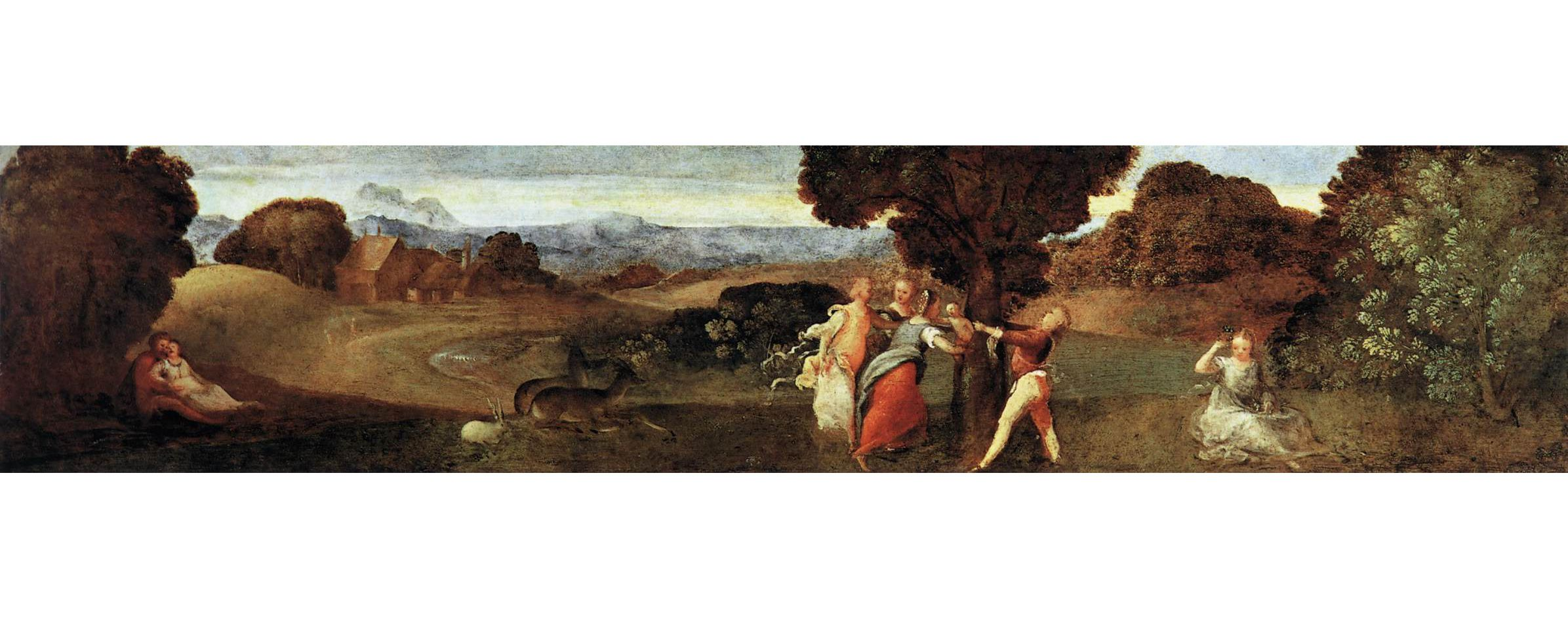 Titian (Tiziano Vecellio) : The Birth of Adonis (Musei Civici Agli Eremitani  (Italy - Padua)) 1490-1576 ティツィアーノ・ヴェチェッリオ