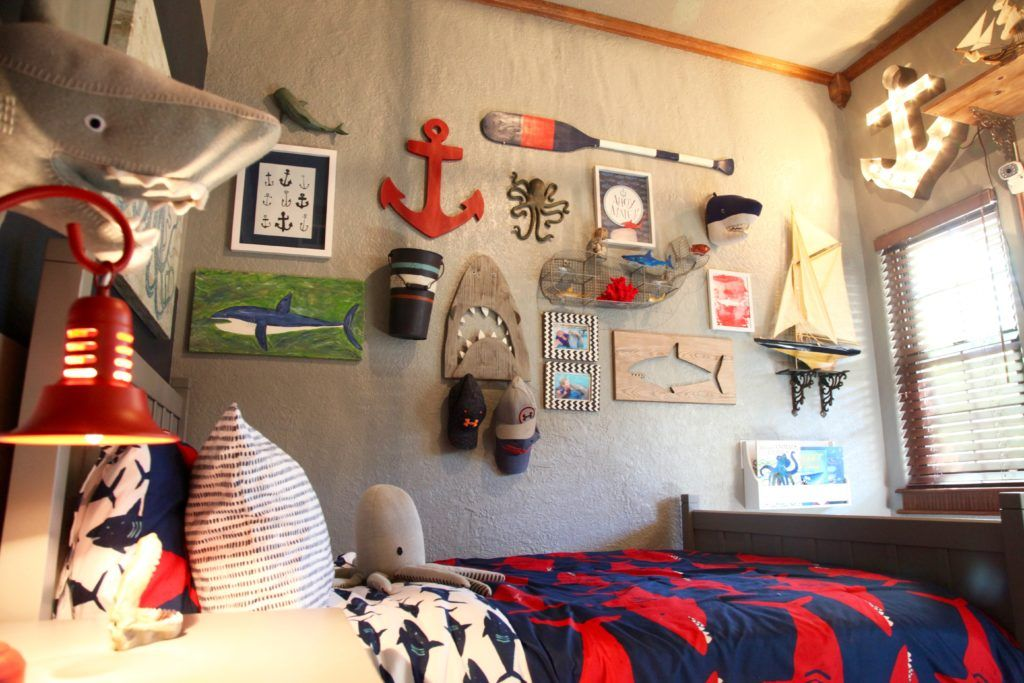 Shark Themed Boy S Room In 2019 Nautical Nursery Ideas