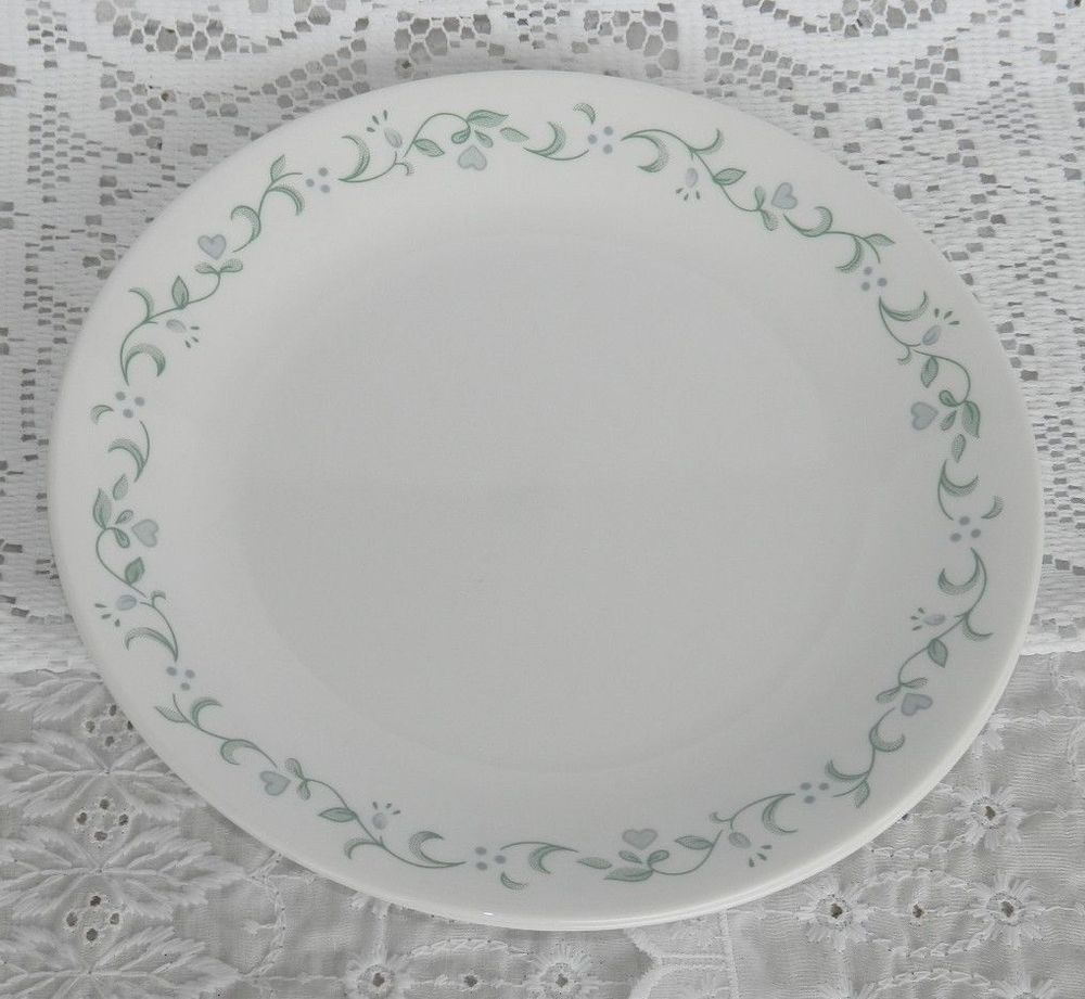 Set of 4 Corelle by Corning Country Cottage 10 1/4\  Dinner Plates Blue Hearts  sc 1 th 215 & Set of 4 Corelle by Corning Country Cottage 10 1/4\