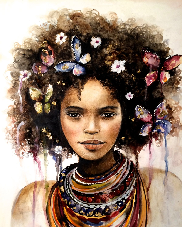 Female Empowerment Art Print Drawing Love Portrait Artwork