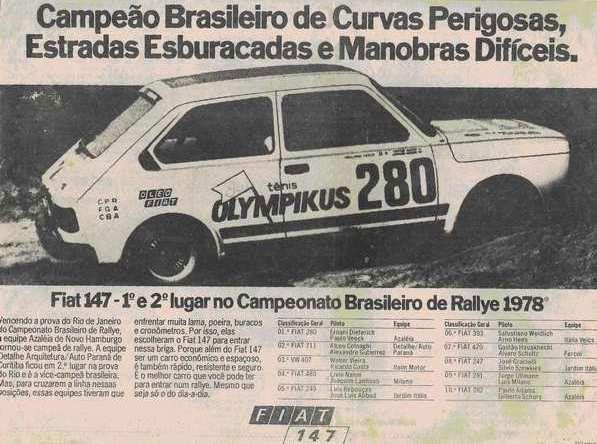 Fiat 147 Campeao Brasileiro De Curvas Perigosas Estradas
