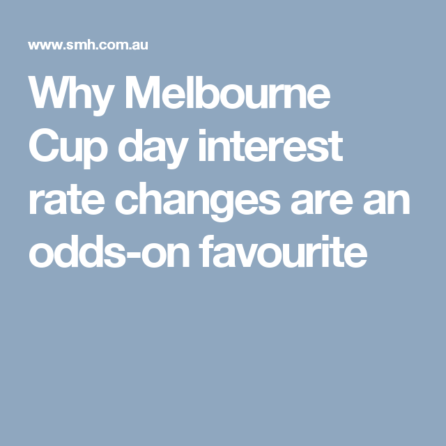 Why Melbourne Cup day interest rate changes are an odds-on