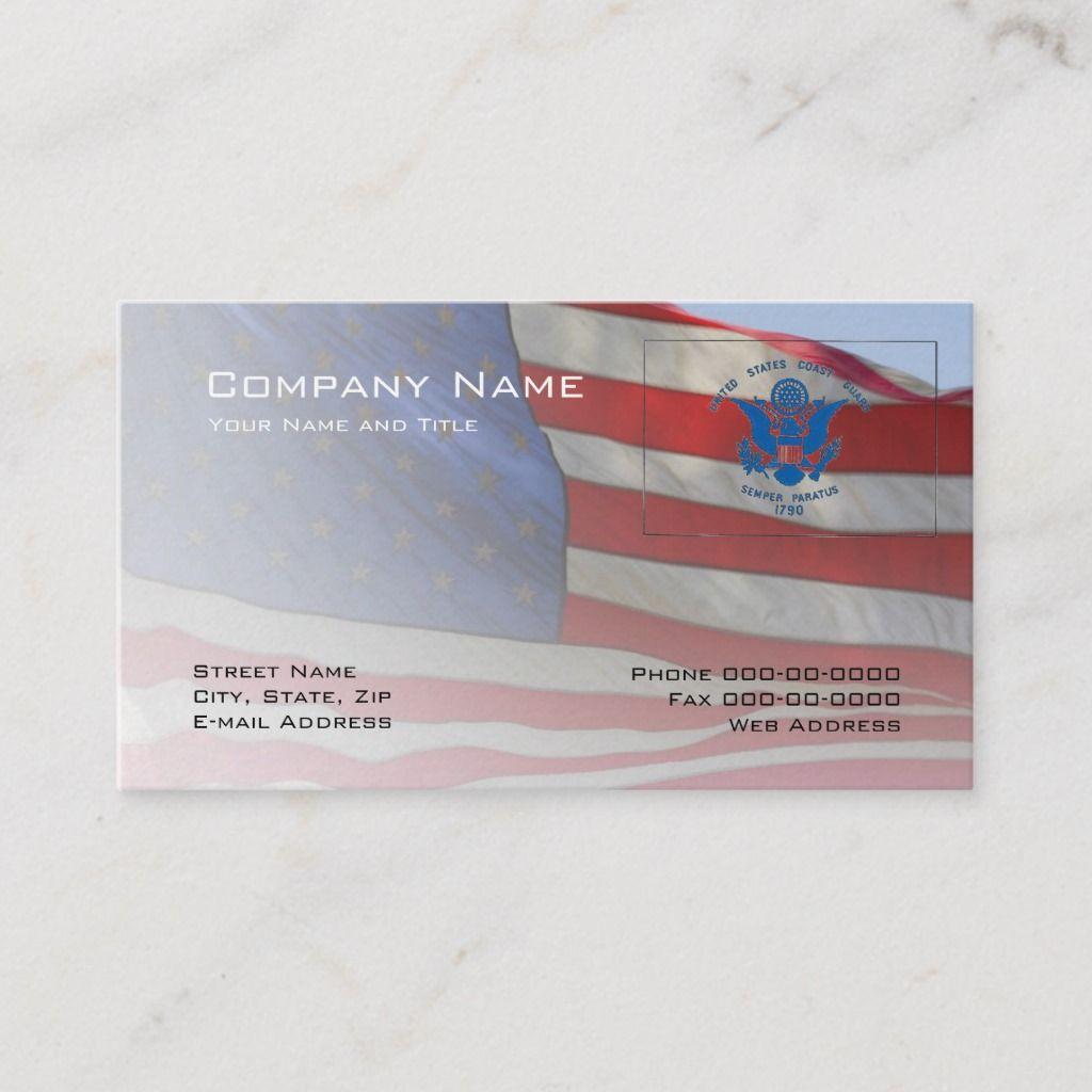 Coast Guard Business Card Zazzle Com Coast Guard Printing Double Sided Business Card Design