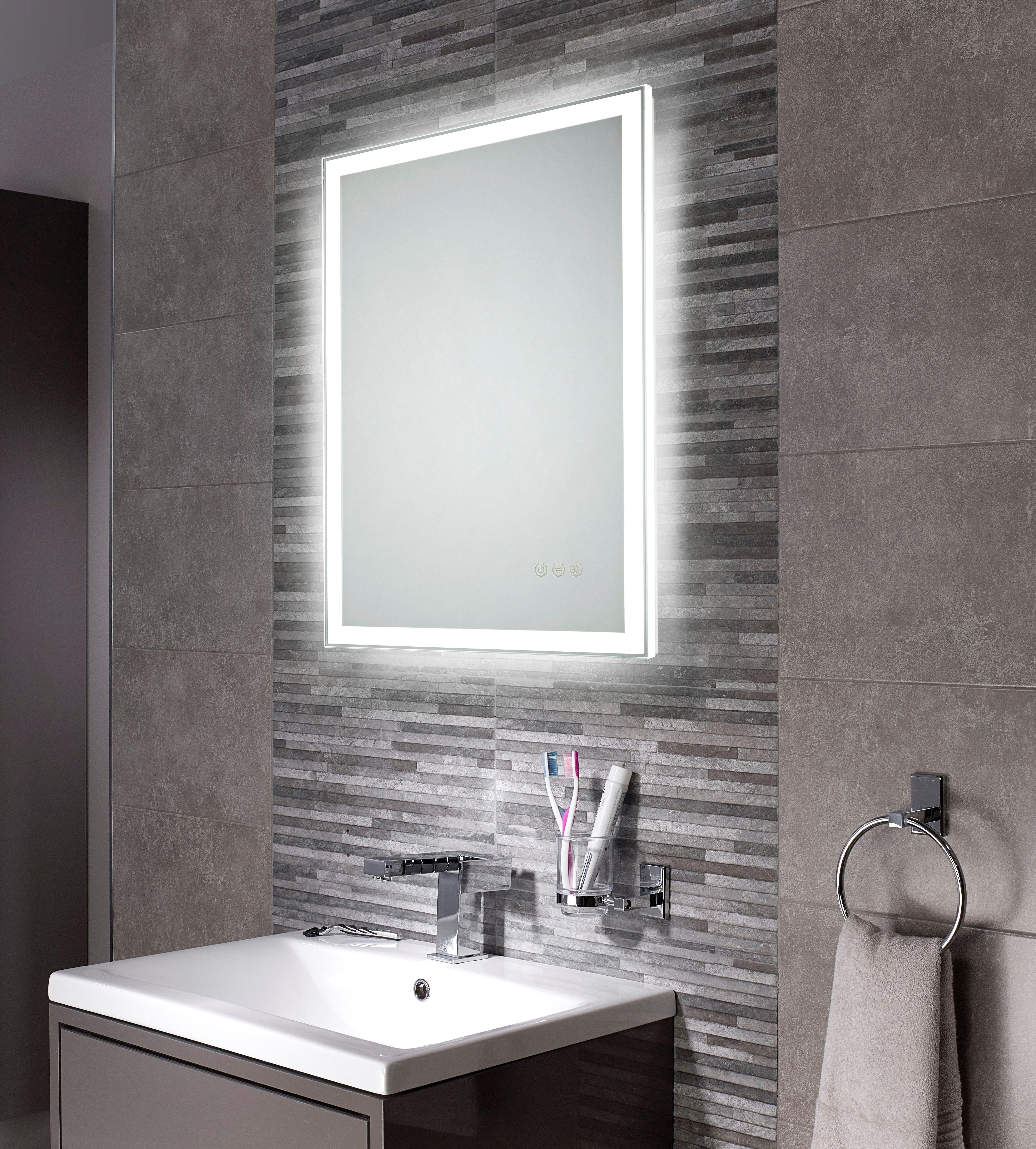 500x700mm Adella Led Illuminated Bathroom Mirror Grey Bathroom Mirrors Led Mirror Bathroom Modern Bathroom Design