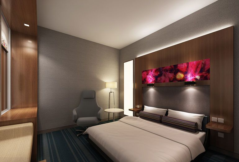 Aloft Sharjah   Opening 2018 Guest Room   Rendering | alove