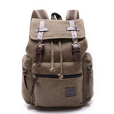 dc69087018 Canvas Men Backpack Korean Boy School Bags Large Laptop Male Backpack  Vintage Bagpack Travel Bag Book bags mochilas sac a dos