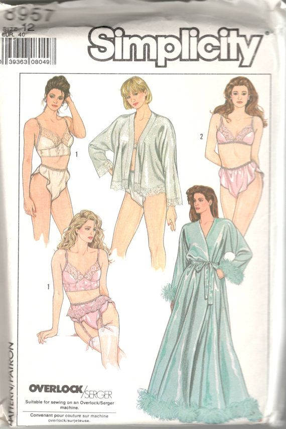 cc217cbf6 Simplicity 8957 1980s Misses Glamorous Lingerie Robe by mbchills ...