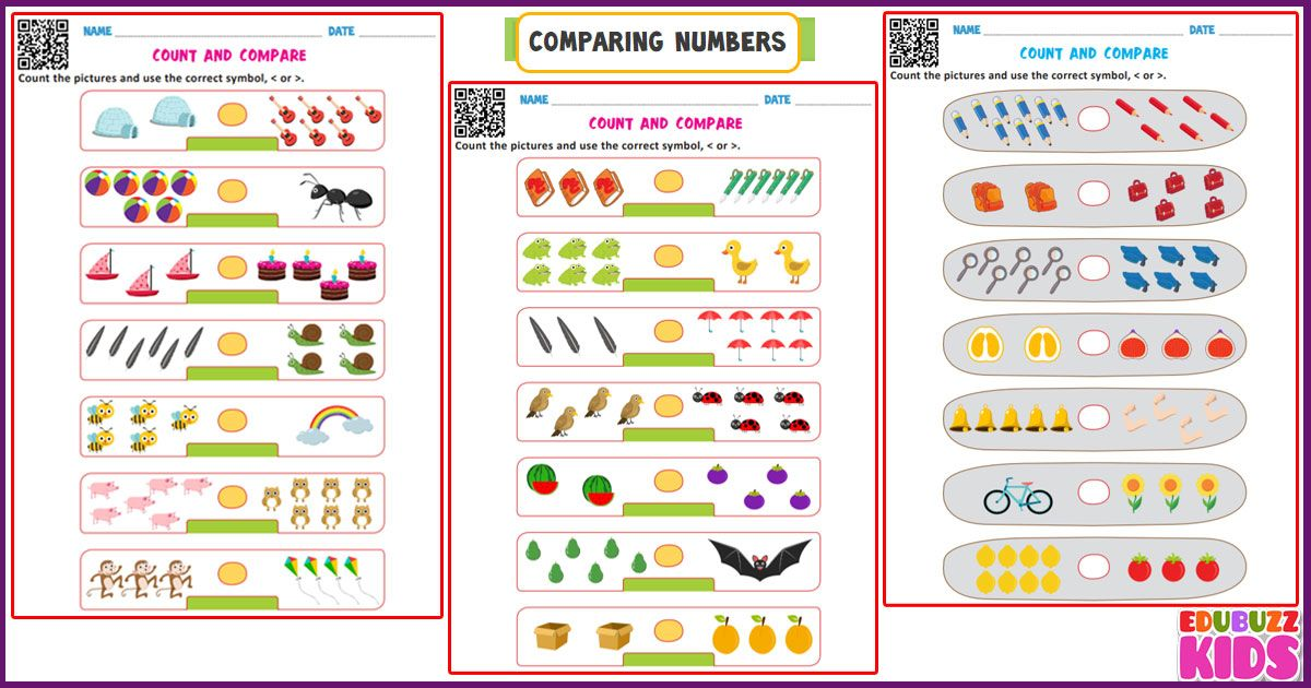 Check Out The Edubuzzkids Widest Range Of Math Worksheets Which Are Prepared Comparing Numbers Worksheet Kindergarten Worksheets Number Worksheets Kindergarten