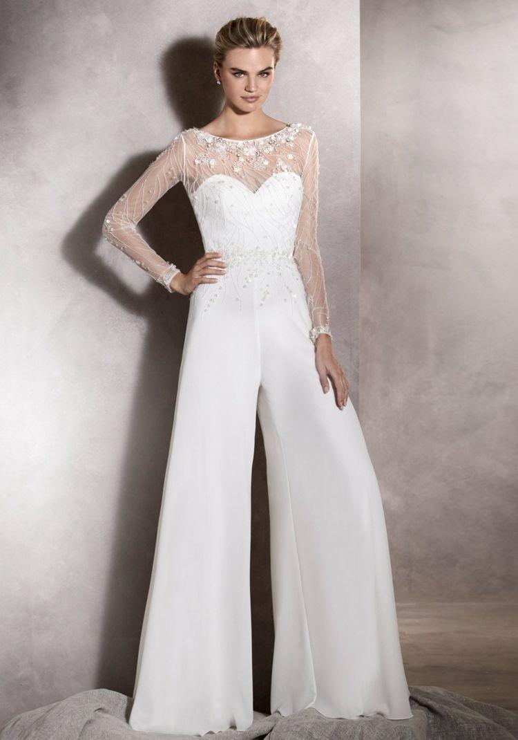 Hochzeitskleid Jumpsuit #hochzeitskleid #jumpsuit  Brautmode