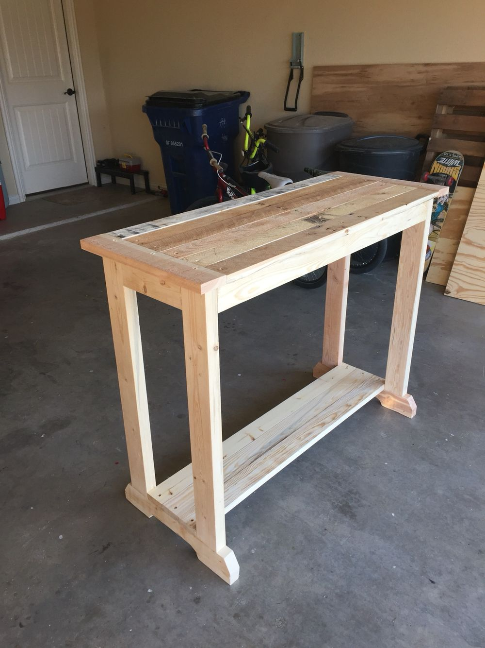 Wood Entry Table pallet wood entry table. | pallet furniture | pinterest | entry