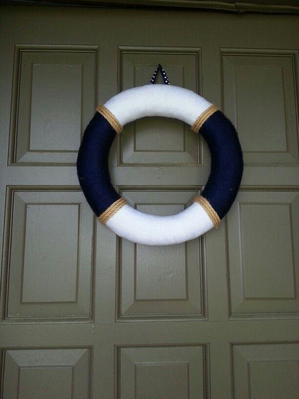 My nautical wreath