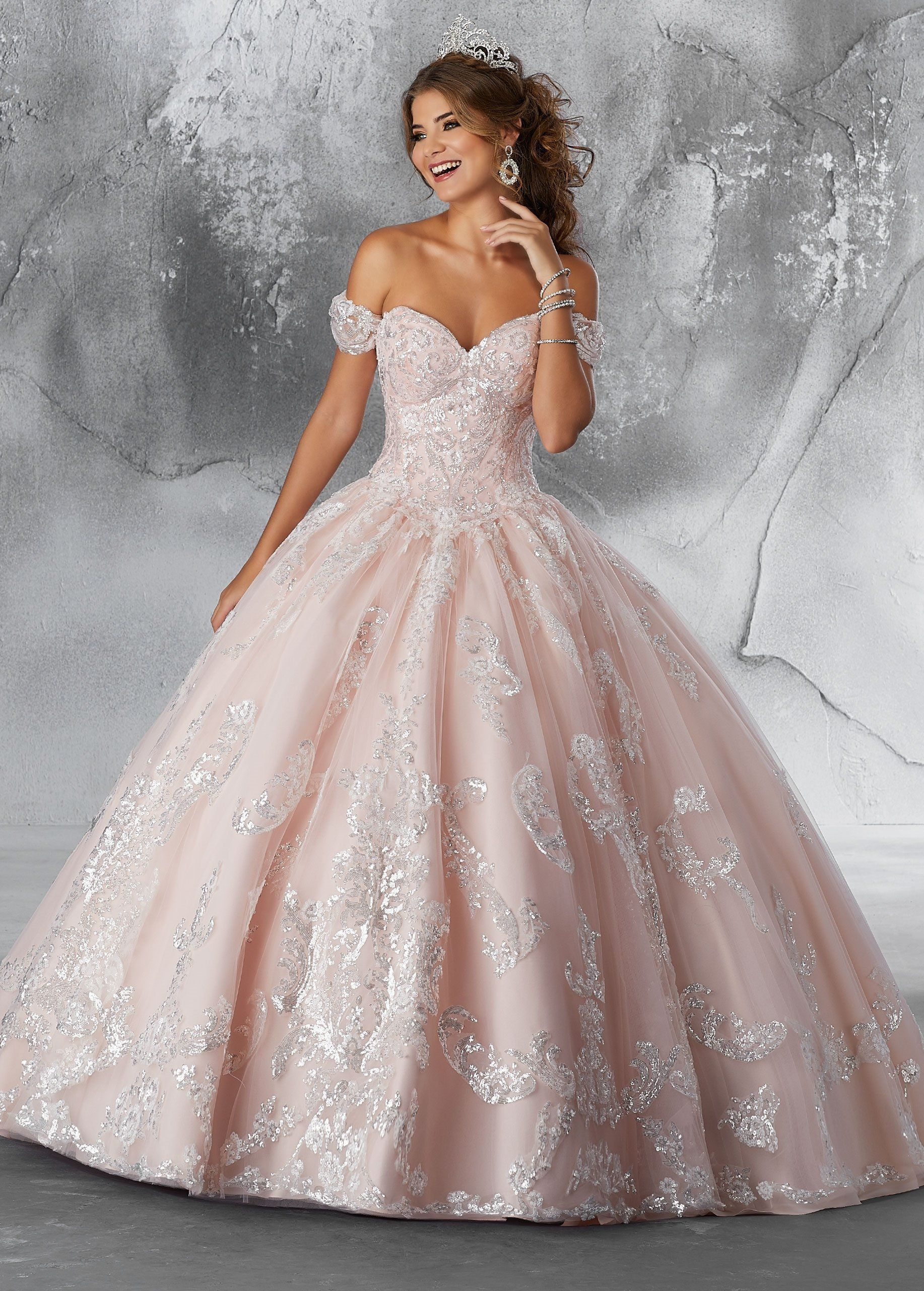fc25eac70d8 Sequined Strapless Quinceanera Dress by Mori Lee Vizcaya 89186 ...