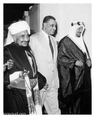 الزعيم عبد الناصر مع الملك سعود و إمام اليمن الإمام احمد بن يحيي حميد الدين Historical Figures Historical Art