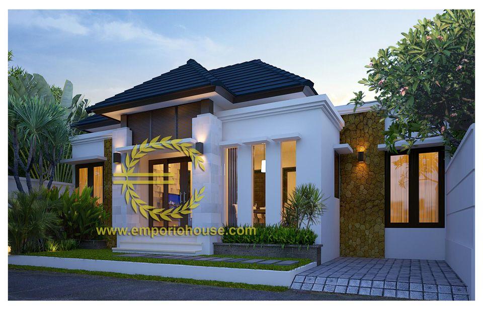 desain rumah 1 lantai 3 kamar lebar tanah 12 meter dengan