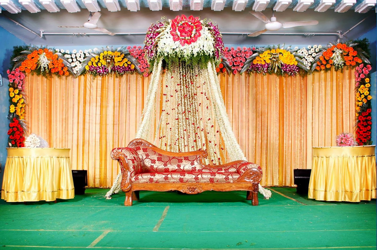 Mehndi Stage Background : Marriage wedding stage decorations background images of india