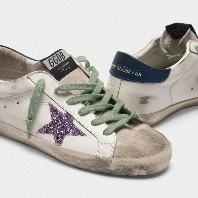 Super Star Sneakers In Leather With Glittery Star In 2020 Golden Goose Sneakers Outfit Star Sneakers Golden Goose Sneakers