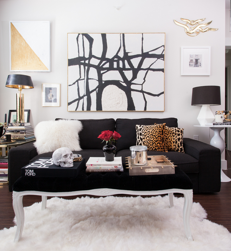Living Room Interior Black And White Abstract Art A History Lesson Franz Klein Inspired The