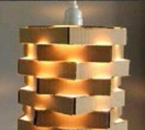 Membuat Lampu Gantung Cantik Dari Kardus Bekas