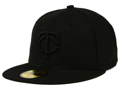 f648114d93a Minnesota Twins New Era MLB Black on Black Fashion 59FIFTY Cap ...