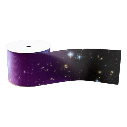 Purple Galaxy Cluster Grosgrain Ribbon