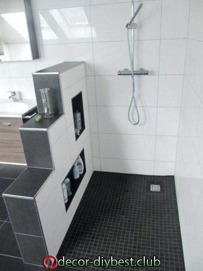 Badezimmer Ideen Begehbare Dusche Small bathroom