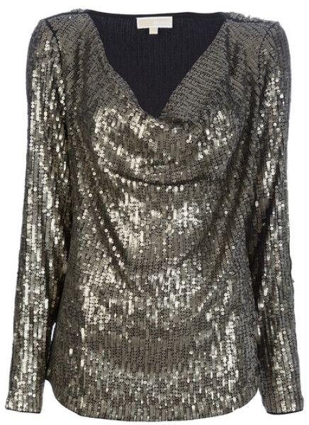 d0b14486a2d Silver Sequin Tops for Women