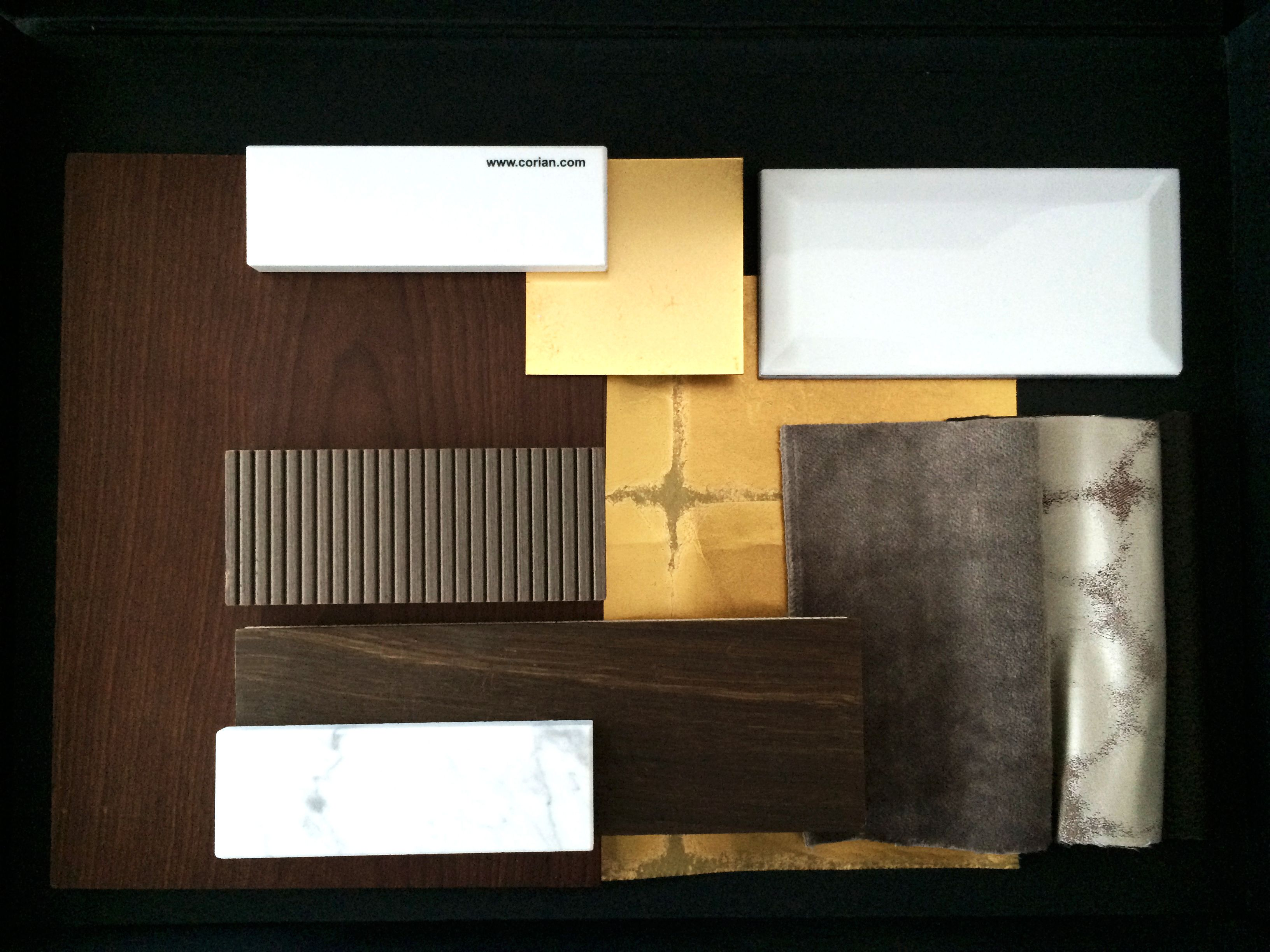 Reimann interior design material sample board for Interior decoration with waste material