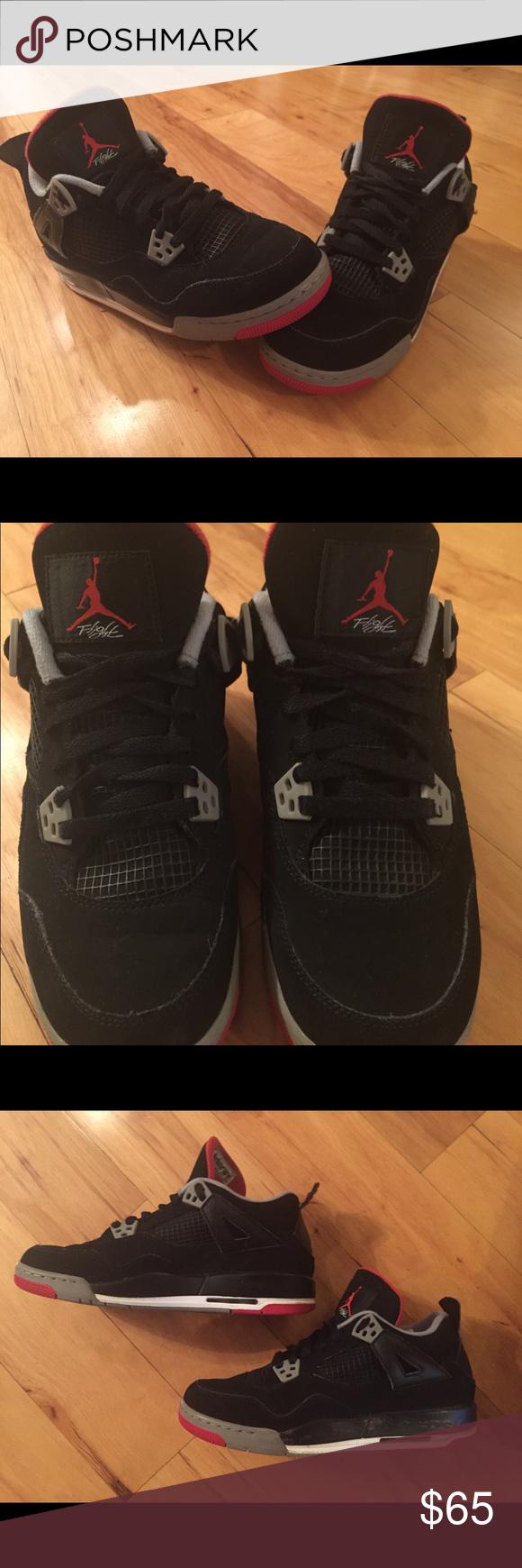 best website d1ebb 82628 Nike Air Jordan IV 4 Retro Black Cement GS Size 7Y Nike 408452-089